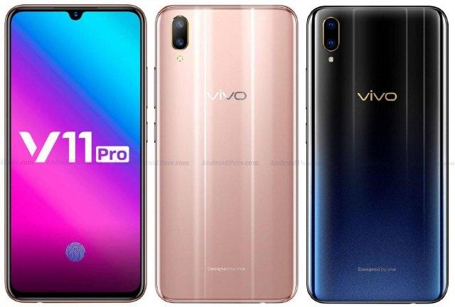 Опубликованы новые пресс-рендеры и характеристики смартфона Vivo V11 Pro