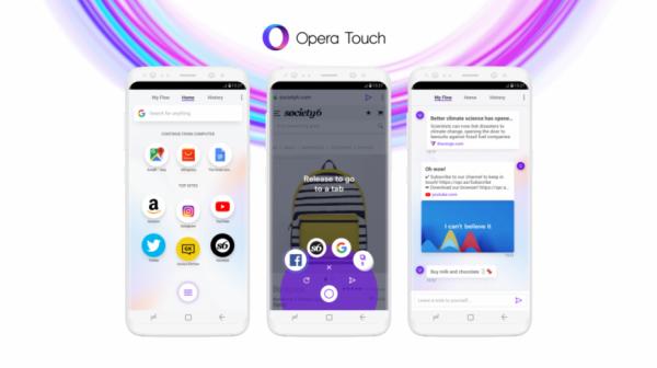 Мобильным браузером Opera Touch можно будет управлять одной рукой